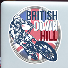 British downhill sticker