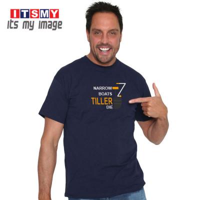 Narrow Boats Tiller Die t-shirt
