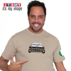 Lancia Integrale Evo rally car t-shirt