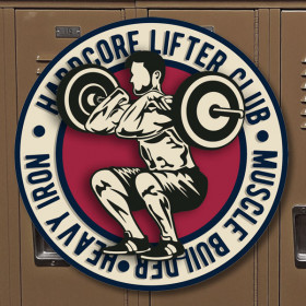 Hardcore Lifter Club sticker