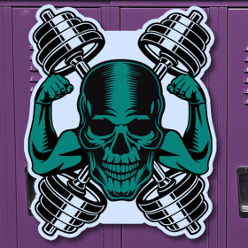 Skull Cross sticker