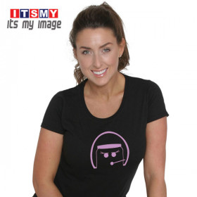Open Face woman - helmet t-shirt