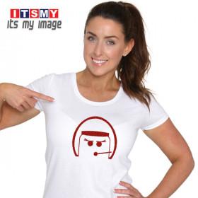 Open Face woman glitter - helmet t-shirt