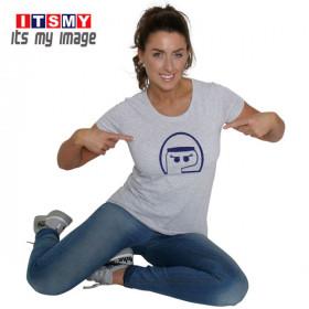 Half Face woman glitter - helmet t-shirt