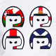 UK flags helmets t-shirt