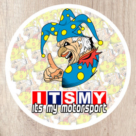 Its My Motorsport Jester round sticker