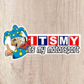 Its My Motorsport Jester long kiss cut sticker