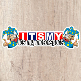 Its My Motorsport twin Jester long kiss cut sticker