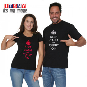Keep calm get curry on t-shirt