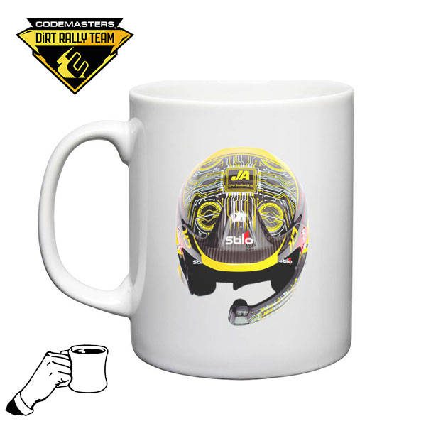 Codemasters DiRT Rally Team Jon Armstrong Helmet Mug 1