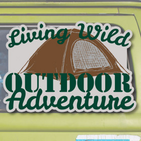 Living Wild sticker