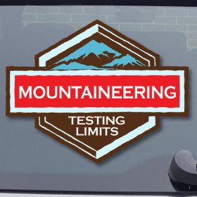 Mountaineering sticker