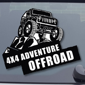 4x4 Adventure sticker