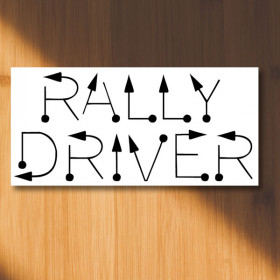 Rally driver tulips - rally signs sticker