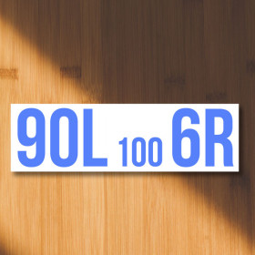 90L 100 6R - rally signs sticker
