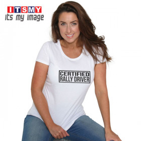 Certified rally driver t-shirt