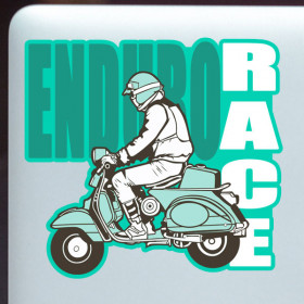 Enduro Racer sticker