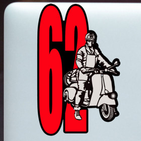 Scooter racer sticker