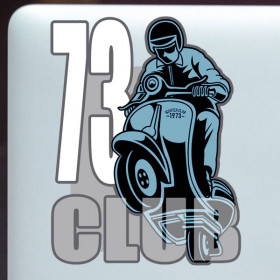 Race 73 Club sticker